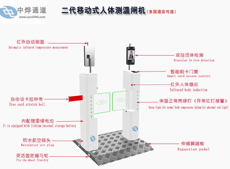 移动式人体测温闸机